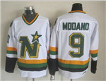 Minnesota North Stars #9 Mike Modano 1980's CM Vintage White Jersey
