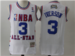 2003 NBA All-Star Game Eastern Conference #3 Allen Iverson White Hardwood Classic Jersey
