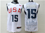2008 Olympic Team USA #15 Carmelo Anthony White Jersey