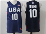 2016 Olympic Team USA #10 Kyrie Irving Navy Jersey