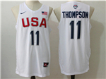 2016 Olympic Team USA #11 Klay Thompson White Jersey