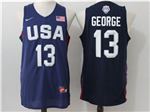 2016 Olympic Team USA #13 Paul George Navy Jersey