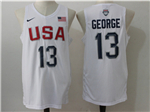 2016 Olympic Team USA #13 Paul George White Jersey