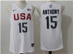 2016 Olympic Team USA #15 Carmelo Anthony White Jersey