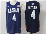 2016 Olympic Team USA #4 Jimmy Butler Navy Jersey