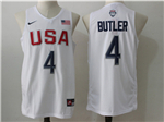 2016 Olympic Team USA #4 Jimmy Butler White Jersey