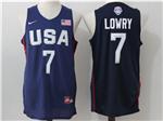 2016 Olympic Team USA #7 Kyle Lowry Navy Jersey