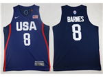 2016 Olympic Team USA #8 Harrison Barnes Navy Jersey