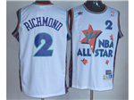 1995 NBA All-Star Game Western Conference #2 Mitch Richmond White Hardwood Classic Jersey