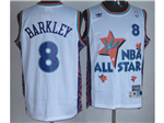 1995 NBA All-Star Game Western Conference #8 Charles Barkley White Hardwood Classic Jersey