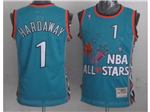 1996 NBA All-Star Game Eastern Conference #1 Penny Hardaway Teal Hardwood Classic Jersey