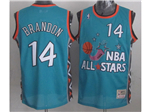 1996 NBA All-Star Game Eastern Conference #14 Terrell Brandon Teal Hardwood Classic Jersey