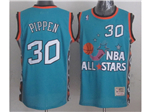 1996 NBA All-Star Game Eastern Conference #30 Scottie Pippen Teal Hardwood Classic Jersey