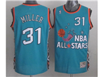 1996 NBA All-Star Game Eastern Conference #31 Reggie Miller Teal Hardwood Classic Jersey
