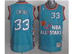 1996 NBA All-Star Game Eastern Conference #33 Patrick Ewing Teal Hardwood Classic Jersey