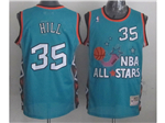 1996 NBA All-Star Game Eastern Conference #35 Grant Hill Teal Hardwood Classic Jersey