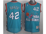 1996 NBA All-Star Game Eastern Conference #42 Vin Baker Teal Hardwood Classic Jersey