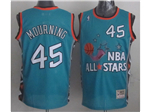1996 NBA All-Star Game Eastern Conference #45 Alonzo Mourning Teal Hardwood Classic Jersey