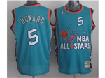 1996 NBA All-Star Game Eastern Conference #5 Juwan Howard Teal Hardwood Classic Jersey