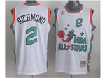 1996 NBA All-Star Game Western Conference #2 Mitch Richmond White Hardwood Classic Jersey