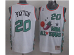1996 NBA All-Star Game Western Conference #20 Gary Payton White Hardwood Classic Jersey