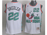 1996 NBA All-Star Game Western Conference #22 Clyde Drexler White Hardwood Classic Jersey