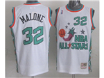 1996 NBA All-Star Game Western Conference #32 Karl Malone White Hardwood Classic Jersey