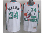 1996 NBA All-Star Game Western Conference #34 Hakeem Olajuwon White Hardwood Classic Jersey