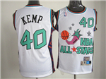 1996 NBA All-Star Game Western Conference #40 Shawn Kemp White Hardwood Classic Jersey