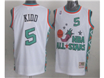 1996 NBA All-Star Game Western Conference #5 Jason Kidd White Hardwood Classic Jersey