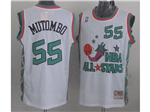 1996 NBA All-Star Game Western Conference #55 Dikembe Mutombo White Hardwood Classic Jersey