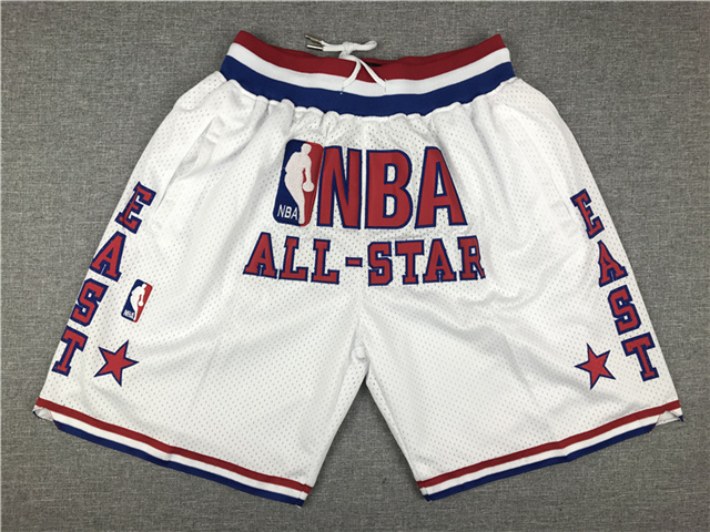NBA 2003 All Star Game Just Don White Basketball Shorts