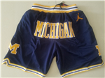 Michigan Wolverines Just Don Navy Basketball Shorts