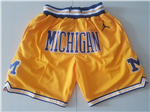 Michigan Wolverines Just Don Gold Basketball Shorts