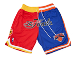 1994 NBA Finals Rockets x Knicks Just Don Red/Blue Basketball Shorts
