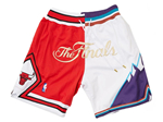 1997 NBA Finals Bulls x Jazz Just Don Red/White Basketball Shorts