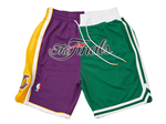 2008 NBA Finals Lakers x Celtics Just Don Purple/Green Basketball Shorts