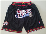 Philadelphia 76ers Just Don Black Basketball Shorts