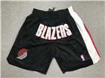 Portland Trail Blazers Just Don Black Basketball Shorts