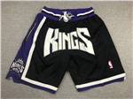 Sacramento Kings Just Don Black Basketball Shorts
