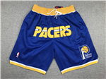 Indiana Pacers Just Don White Basketball Shorts