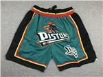 Detroit Pistons Just Don Teal Basketball Shorts