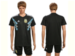 Argentina 2018 World Cup Away Black Soccer Jersey