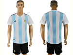 Argentina 2018 World Cup Home Blue/White Soccer Jersey