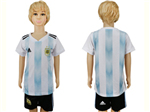 Argentina 2018 World Cup Home Youth Blue/White Soccer Jersey