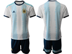 Argentina 2019/20 Home Youth Blue/White Soccer Jersey