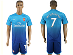 Arsenal F.C. 2017/18 Away Blue Soccer Jersey with #7 Alexis Printing
