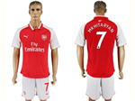 Arsenal F.C. 2017/18 Home Red Soccer Jersey with #7 Alexis Printing