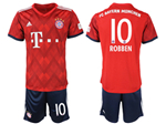 FC Bayern Munich 2018/19 Home Red Soccer Jersey with #10 Robben Printing