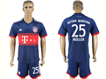 FC Bayern Munich 2017/18 Away Navy Soccer Jersey with #25 Müller Printing